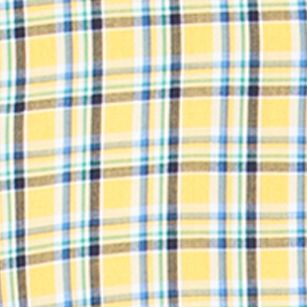 Men: Chaps Casual Shirts: Southport Yellow Chaps Plaid Poplin Shirt