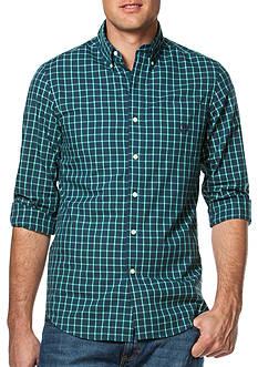 Chaps Plaid Cotton-Blend Button-Down Shirt