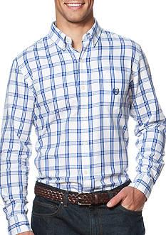 Chaps Windowpane Twill Shirt