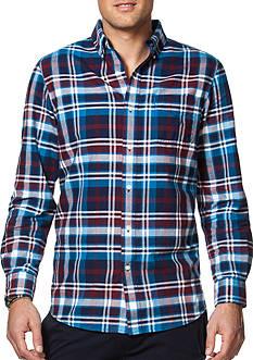 Chaps Plaid Cotton Oxford Sport Shirt