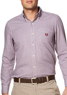 Chaps Houndstooth Poplin Shirt