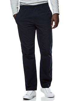 Chaps Flat-Front Poplin Pants