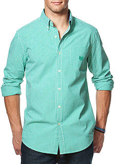 Chaps Gingham Stretch-Poplin Shirt