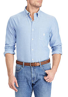 Chaps Big & Tall Solid Oxford Shirt