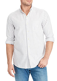 Chaps Big & Tall Bar Stripe Oxford Shirt