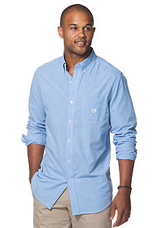 Chaps Big & Tall Mini-Gingham Poplin Shirt