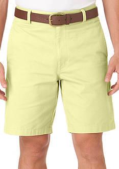 Chaps Big & Tall Flat-Front Twill Shorts