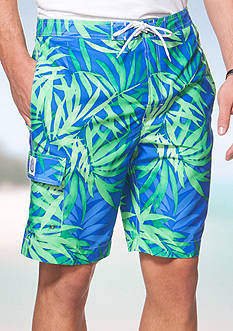 Chaps Big & Tall Floral Board Shorts
