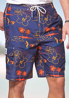 Chaps Big & Tall Surfer Board Shorts