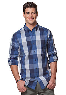Chaps Big & Tall Buffalo Check Cotton Shirt