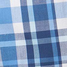 Chaps Big & Tall Sale: Riviera Blue Chaps Big & Tall Short-Sleeve Plaid Shirt
