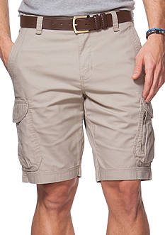Chaps Big & Tall Dobby Cargo Shorts
