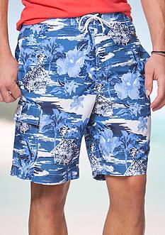 Chaps Big & Tall Tropical Board Shorts