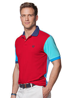 Chaps Big & Tall Color-Blocked Pique Polo Shirt