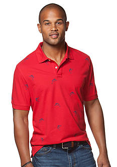 Chaps Big & Tall Printed Pique Polo Shirt