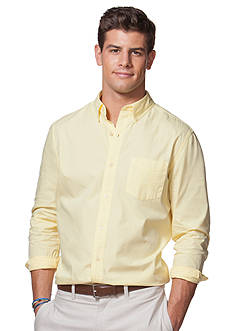 Chaps Big & Tall Garment-Dyed Cotton Shirt