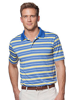 Chaps Big & Tall Striped Golf Polo Shirt
