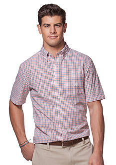 Chaps Big & Tall Short-Sleeve Tattersall Poplin Shirt