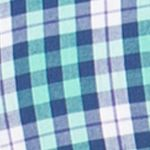 Chaps Big & Tall Sale: Hawaiian Green Chaps Big & Tall Short-Sleeve Checked Shirt