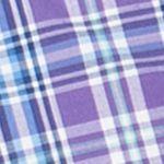 Chaps Big & Tall Sale: Ashley Purple Chaps Big & Tall Short-Sleeve Plaid Shirt