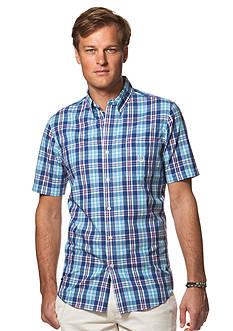 Chaps Big & Tall Short-Sleeve Plaid Shirt