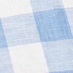 Chaps Big & Tall Sale: Marathon Blue Chaps Big & Tall Short-Sleeve Checked Linen-Cotton Shirt