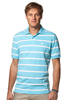 Chaps Big & Tall Striped Piqu Polo Shirt