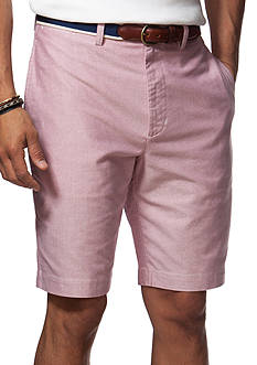 Chaps Big & Tall Flat-Front Oxford Shorts