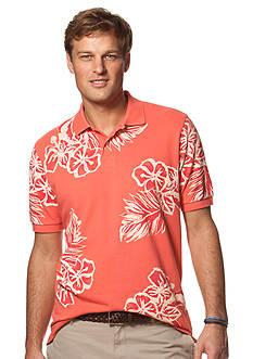Chaps Big & Tall Floral Polo Shirt