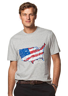 Chaps Big & Tall Graphic Jersey Crew Neck Tee
