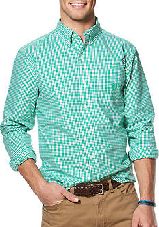 Chaps Big & Tall Gingham Poplin Shirt