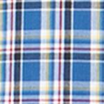 Mens Big and Tall Casual Shirts: Check & Plaid: Crayon Blue Chaps Big & Tall Plaid Poplin Shirt