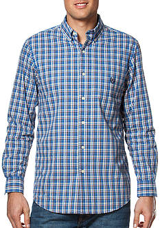 Chaps Big & Tall Plaid Poplin Shirt