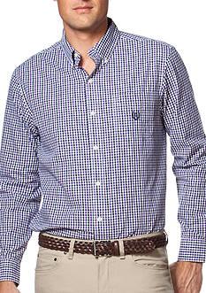 Chaps Big & Tall Gingham Poplin Shirt