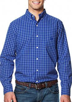 Chaps Big & Tall Tattersall Poplin Shirt