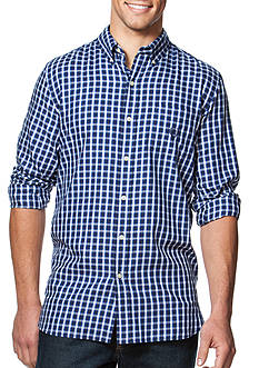 Chaps Big & Tall Checked Twill Shirt
