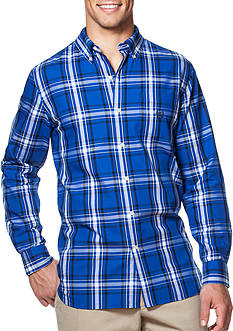 Chaps Big & Tall Plaid Twill Shirt