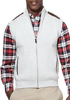 Chaps Big & Tall Full-Zip Sweater Vest