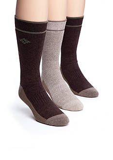 Columbia 3-Pack Combed Cotton Casual Tipped Crew Socks