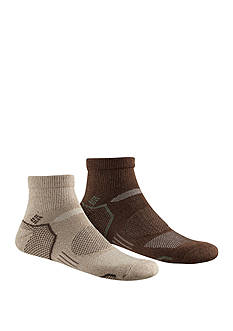 Columbia Balance Point™ Walking Quarter Socks - 2 Pack
