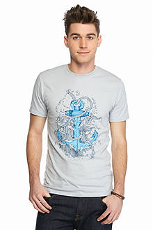 Red Camel Short Sleeve Nautical Anchor Graphic Tee