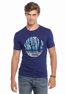 Red Camel Short Sleeve Etched Forest Graphic Tee