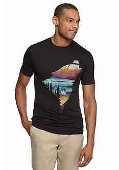 Red Camel Short Sleeve Sunset Wolf Graphic Tee