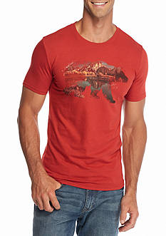 Red Camel Short Sleeve Wondering Bear Graphic Tee