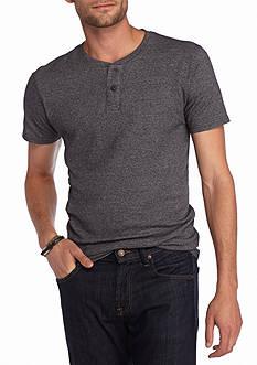 Red Camel Short Sleeve Waffle Henley Shirt