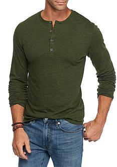 Red Camel Long Sleeve Matrix Henley T-Shirt