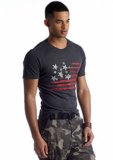 Red Camel® Horizontal Distressed Flag Tee