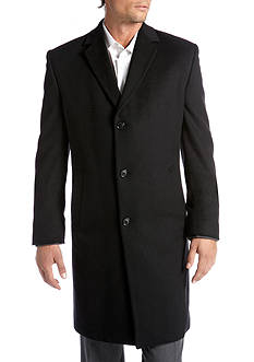 Kenneth Cole Raburn 38-in. Black Topcoat