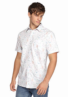 Chip & Pepper CALIFORNIA Short Sleeve Hula Print Woven Shirt