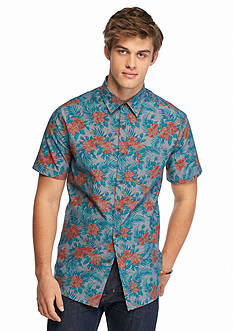 Chip & Pepper CALIFORNIA Short Sleeve Floral Chambray Shirt